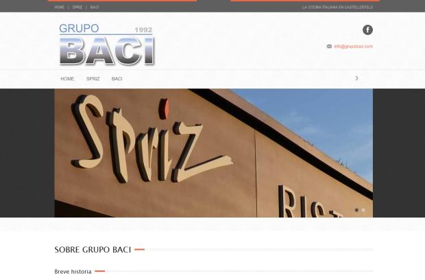 Grupo Baci en pantalla de ordenador.